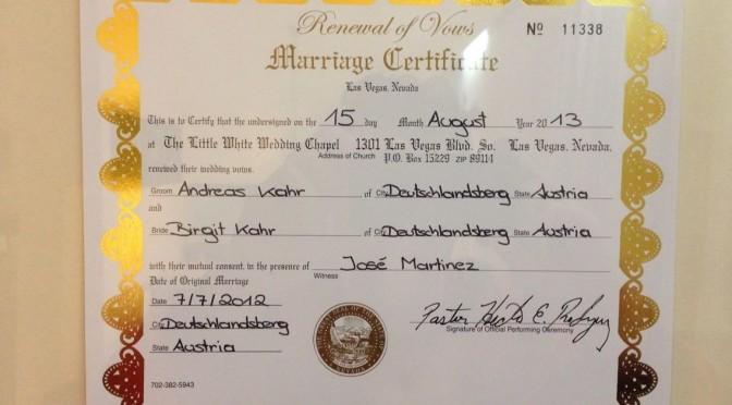 Las Vegas Hochzeit – 1st anniversary Celebration in Vegas