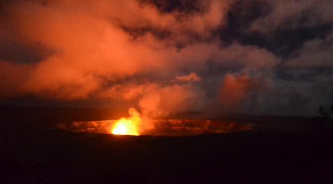 Hawaii Volcanoes National Park – Kilauea Volcano – at Night